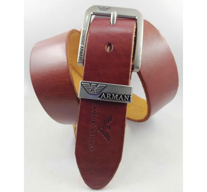 Мужской ремень джинсовый Exclusive ar40-104 коричневый