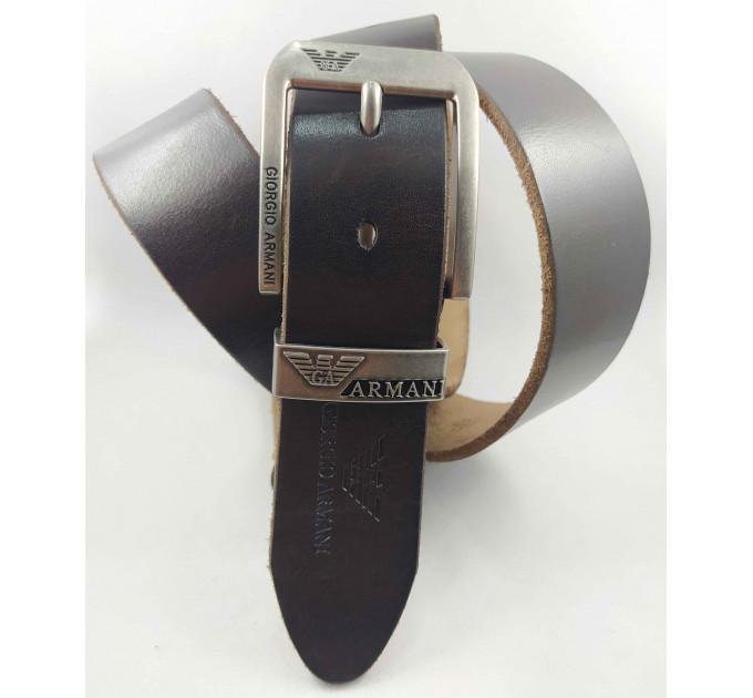 Мужской ремень джинсовый Exclusive ar40-107 темно-коричневый