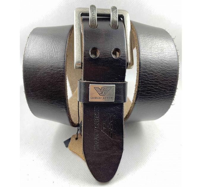 Мужской ремень джинсовый Exclusive ar40-111 темно-коричневый