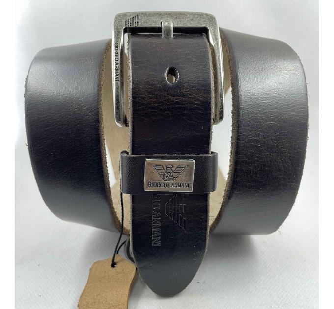 Мужской ремень джинсовый Exclusive ar40-114 темно-коричневый