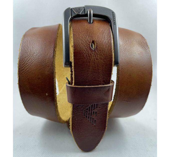 Мужской ремень джинсовый Exclusive ar40-116 рыжий