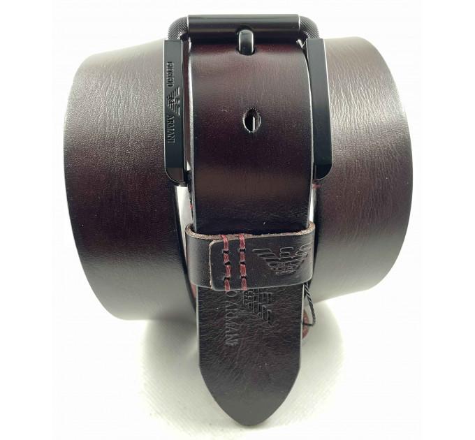 Мужской ремень джинсовый Exclusive ar40-118 коричневый