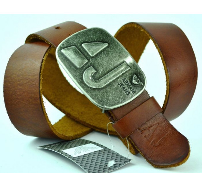 Мужской ремень джинсовый Exclusive ar40-012 коричневый