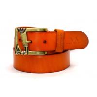 Мужской ремень джинсовый Exclusive ar40-013 оранжевый