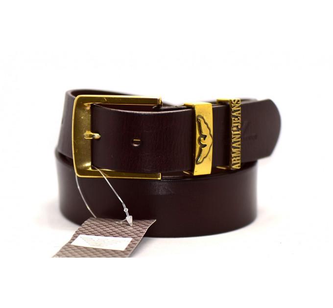 Мужской ремень джинсовый Exclusive ar40-017 коричневый