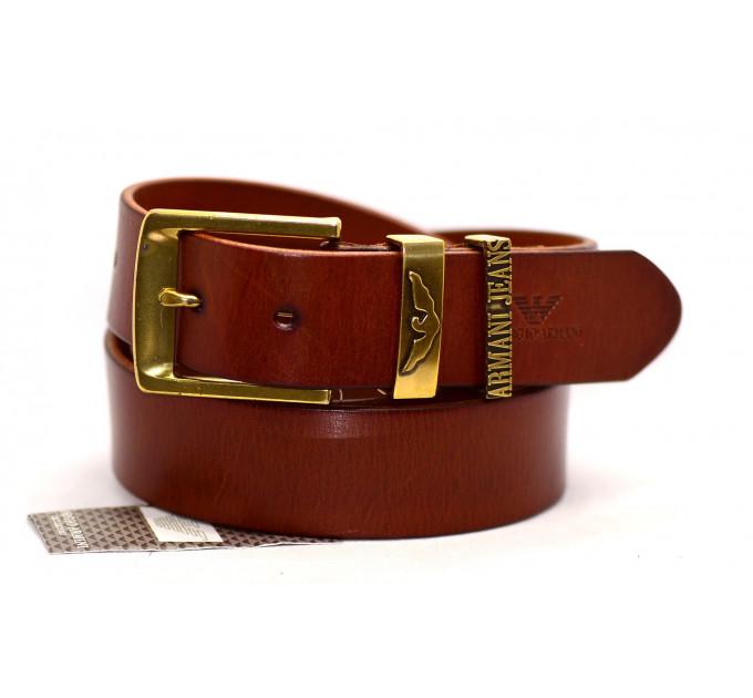Мужской ремень джинсовый Exclusive ar40-019 коричневый
