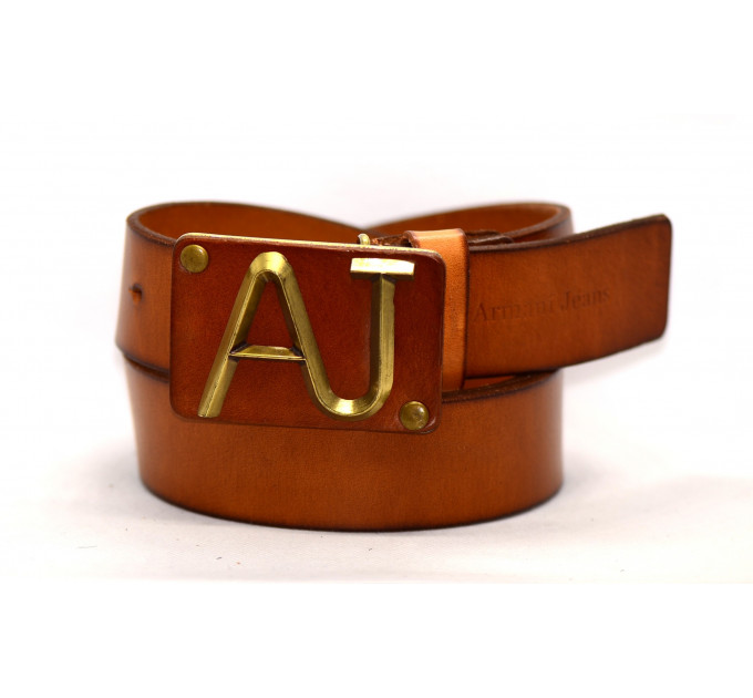 Мужской ремень джинсовый Exclusive ar40-022 коричневый