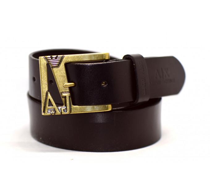 Мужской ремень джинсовый Exclusive ar40-025 коричневый