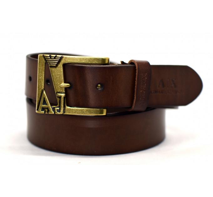 Мужской ремень джинсовый Exclusive ar40-026 коричневый