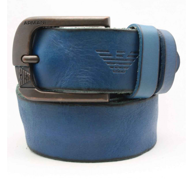 Мужской ремень джинсовый Exclusive ar40-042 синий