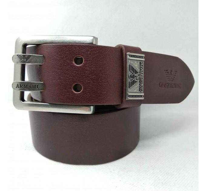 Мужской ремень джинсовый Exclusive ar40-052 коричневый