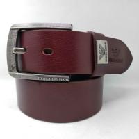 Мужской ремень джинсовый Exclusive ar40-055 коричневый