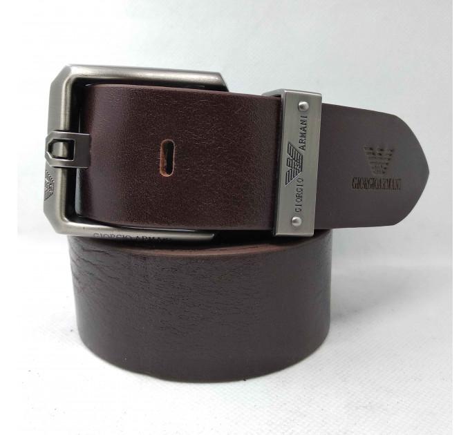 Мужской ремень джинсовый Exclusive ar40-059 коричневый