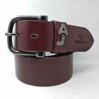 Мужской ремень джинсовый Exclusive ar40-062 коричневый