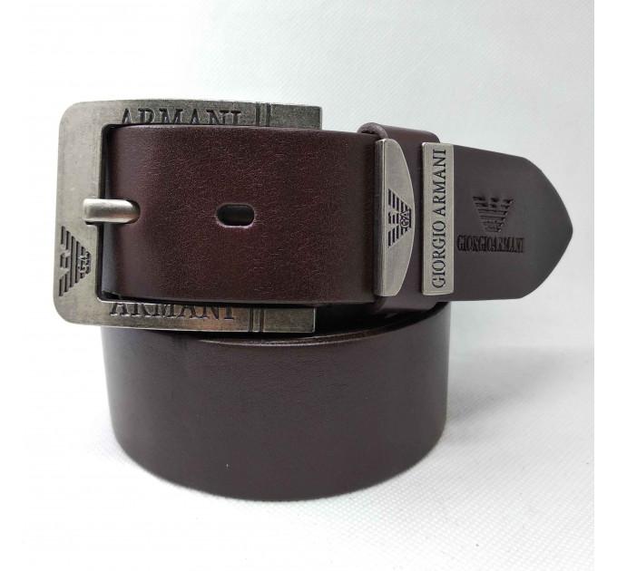 Мужской ремень джинсовый Exclusive ar40-065 коричневый
