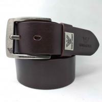 Мужской ремень джинсовый Exclusive ar40-078 коричневый