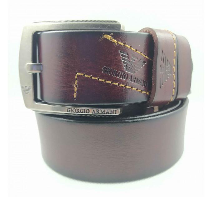 Мужской ремень джинсовый Exclusive ar40-096 коричневый
