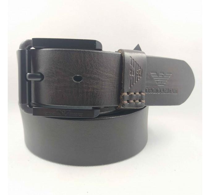 Мужской ремень джинсовый Exclusive ar40-100 коричневый