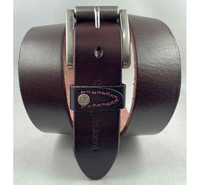 Мужской ремень джинсовый Exclusive ck40-062 коричневый