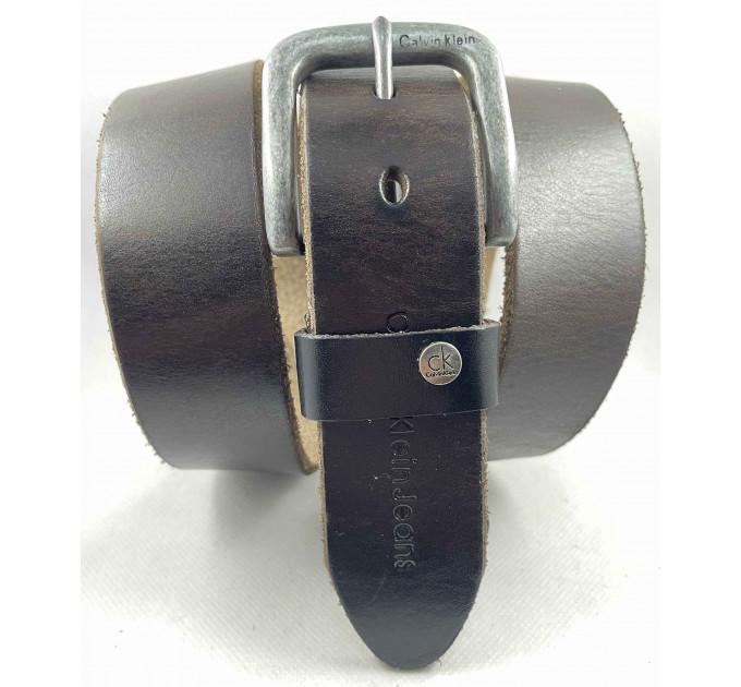 Мужской ремень джинсовый Exclusive ck40-083 темно-коричневый