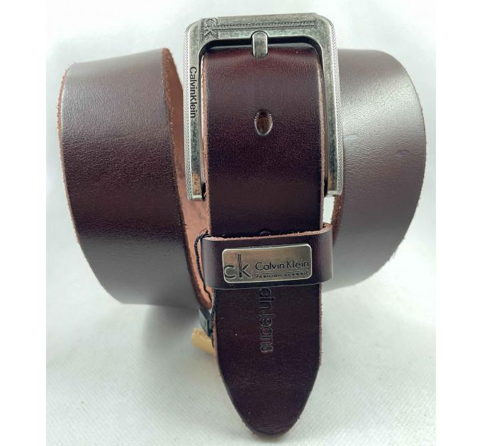 Мужской ремень джинсовый Exclusive ck40-085 коричневый