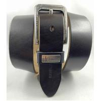 Мужской ремень джинсовый Exclusive ck40-086 темно-коричневый