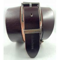 Мужской ремень джинсовый Exclusive ck40-088 коричневый