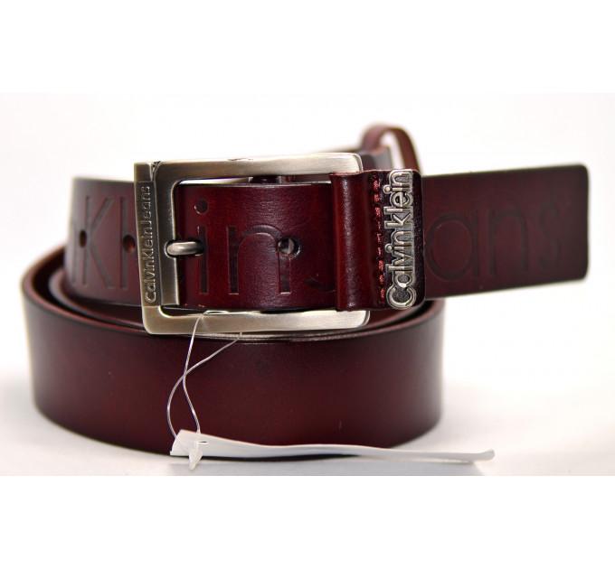 Мужской ремень джинсовый Exclusive ck40-003 коричневый