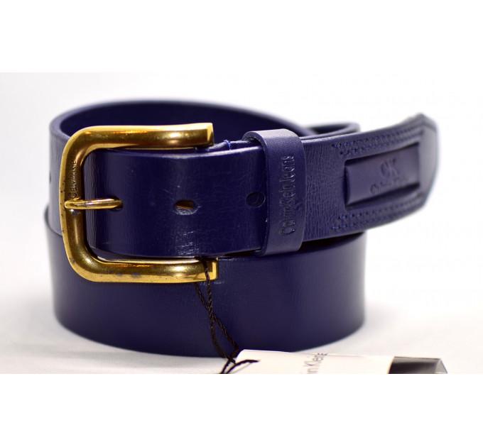 Мужской ремень джинсовый Exclusive ck40-012 синий