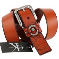 Мужской ремень джинсовый Exclusive ck40-016 коричневый