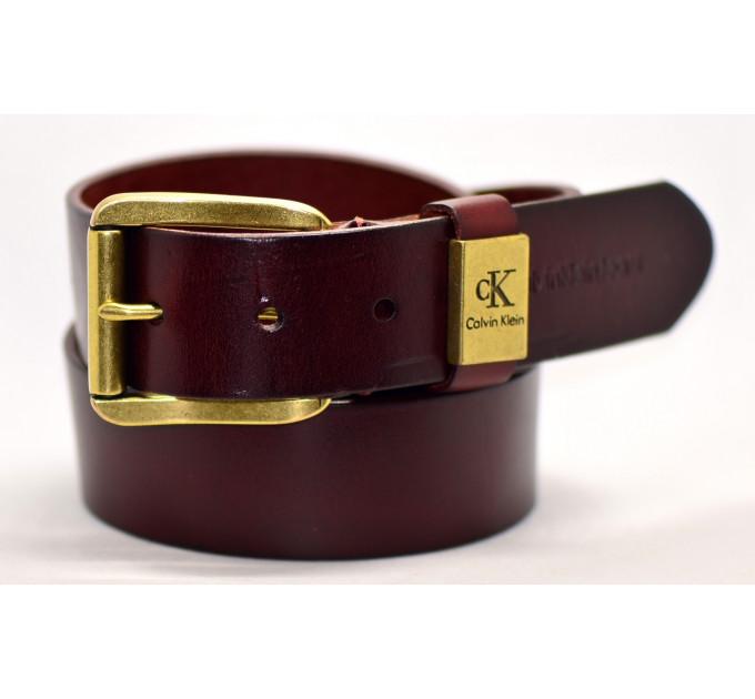 Мужской ремень джинсовый Exclusive ck40-018 коричневый