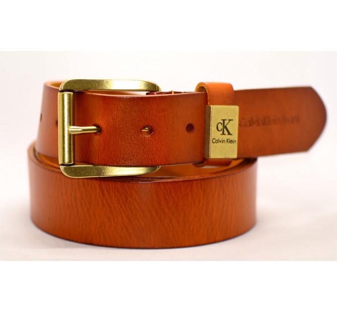 Мужской ремень джинсовый Exclusive ck40-019 оранжевый