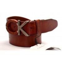 Мужской ремень джинсовый Exclusive ck40-036 коричневый