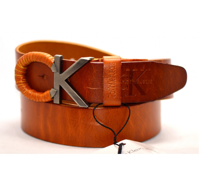 Мужской ремень джинсовый Exclusive ck40-037 оранжевый