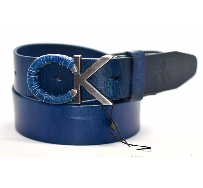 Мужской ремень джинсовый Exclusive ck40-038 синий