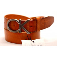Мужской ремень джинсовый Exclusive ck40-040 оранжевый