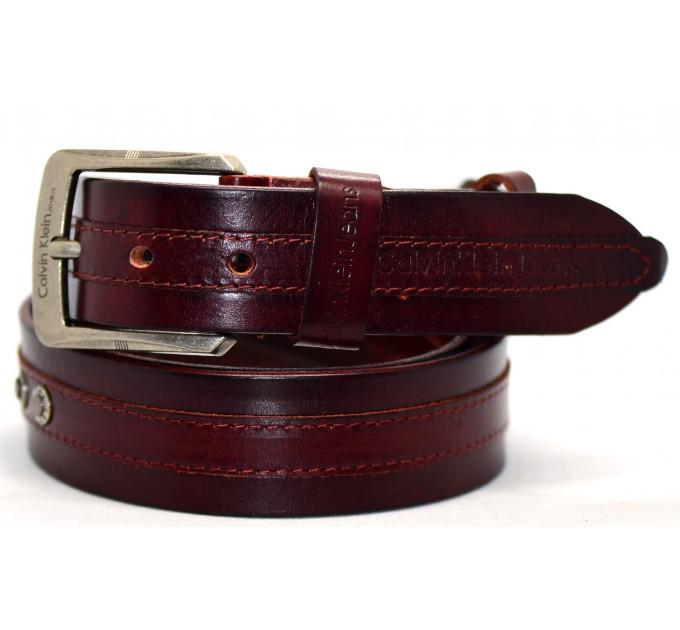 Мужской ремень джинсовый Exclusive ck40-042 коричневый