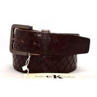 Мужской ремень джинсовый Exclusive ck40-047 коричневый