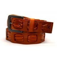 Мужской ремень джинсовый Exclusive ck40-048 коричневый