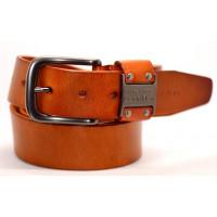 Мужской ремень джинсовый Exclusive ck40-050 оранжевый