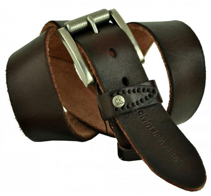 Мужской ремень джинсовый Exclusive ck40-063 коричневый