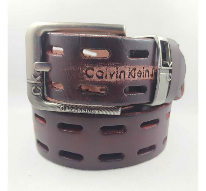 Мужской ремень джинсовый Exclusive ck40-074 коричневый