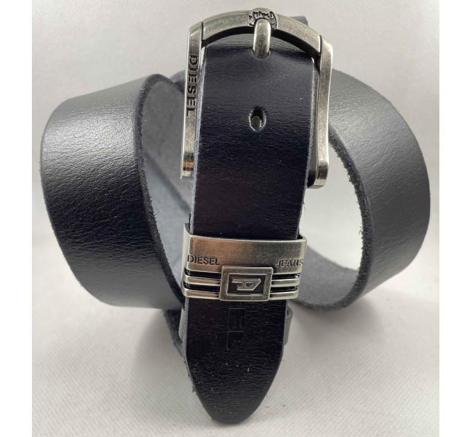 Мужской ремень джинсовый Exclusive DS40-115 черный
