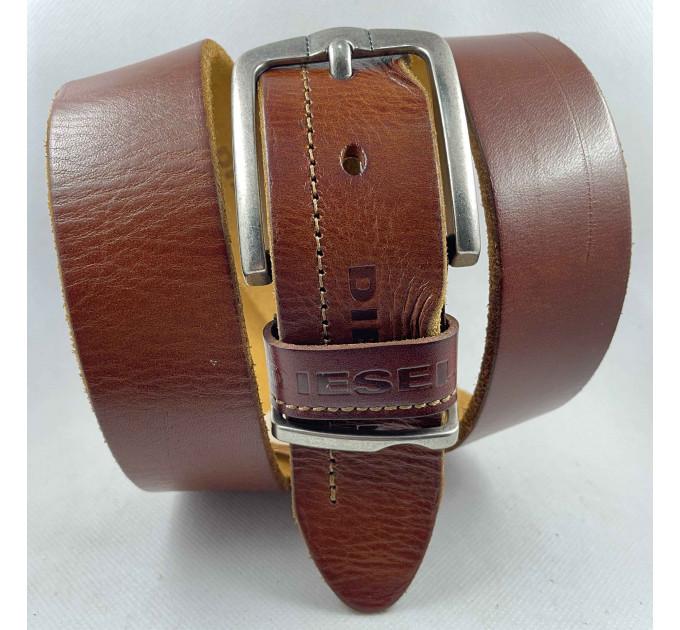 Мужской ремень джинсовый Exclusive DS40-116 рыжий