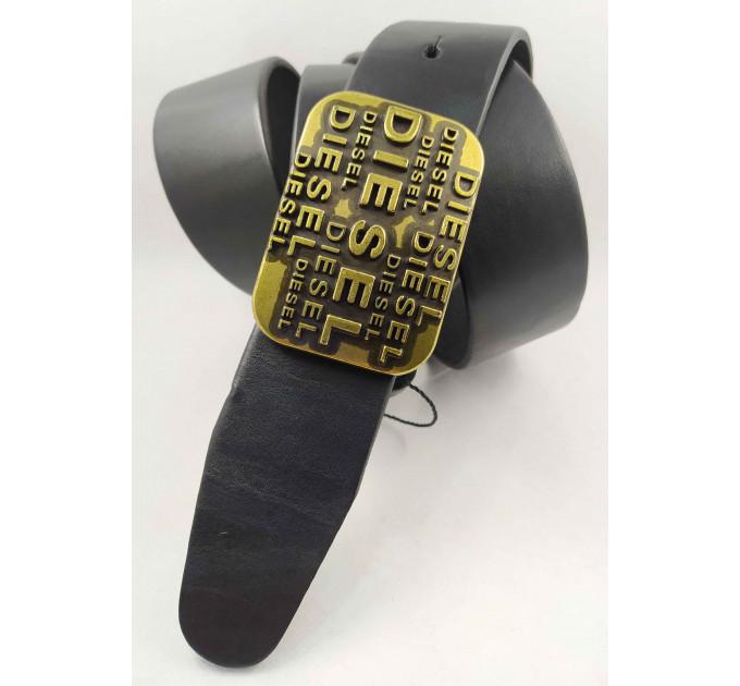 Мужской ремень джинсовый Exclusive DS40-106 черный