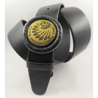 Мужской ремень джинсовый Exclusive DS40-109 черный