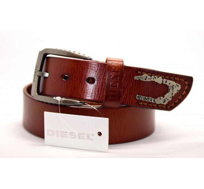 Мужской ремень джинсовый Exclusive DS40-004 коричневый