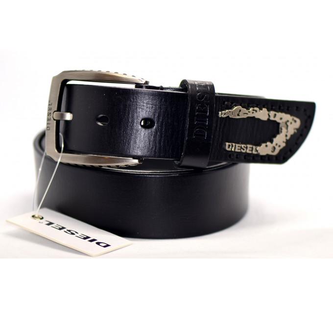 Мужской ремень джинсовый Exclusive DS40-005 черный