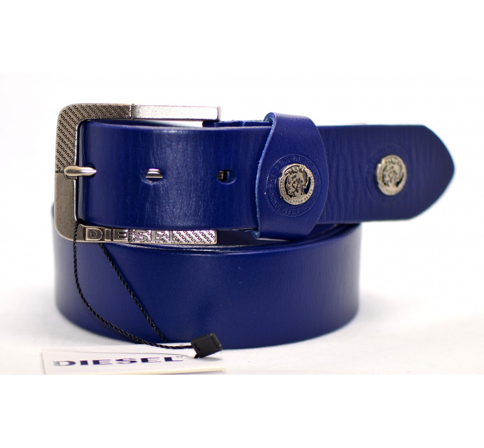 Мужской ремень джинсовый Exclusive DS40-013 синий