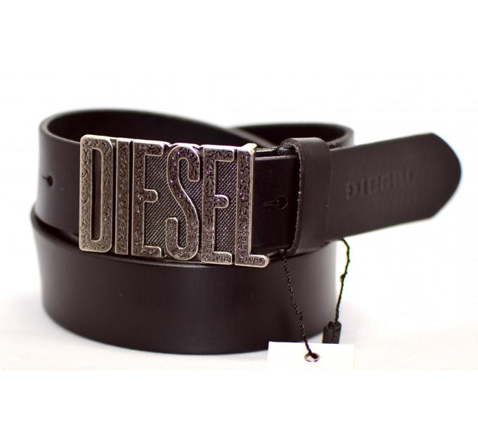 Мужской ремень джинсовый Exclusive DS40-017 коричневый